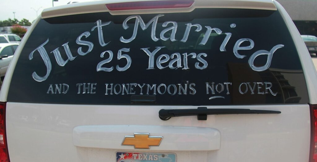Just Married 25 Years