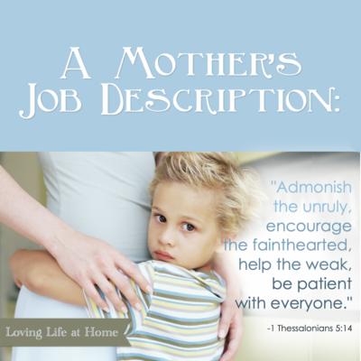 A Mother's Job Description