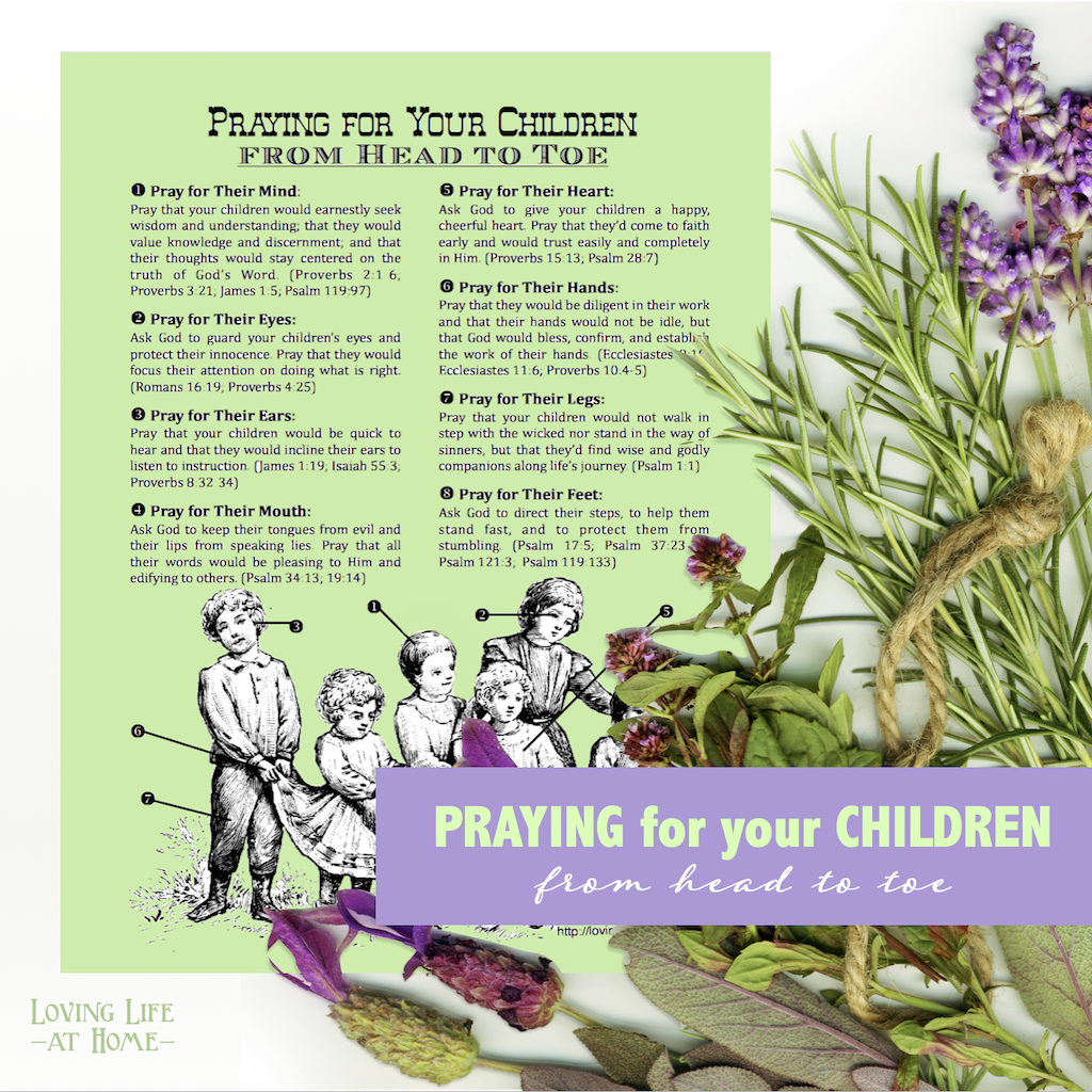 Head-to-Toe Prayer for Children