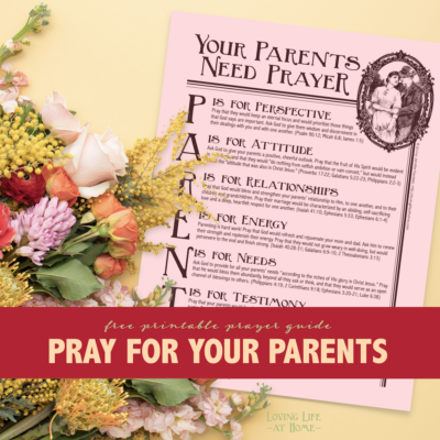 Parents Need Prayer, Too (Free Printable)