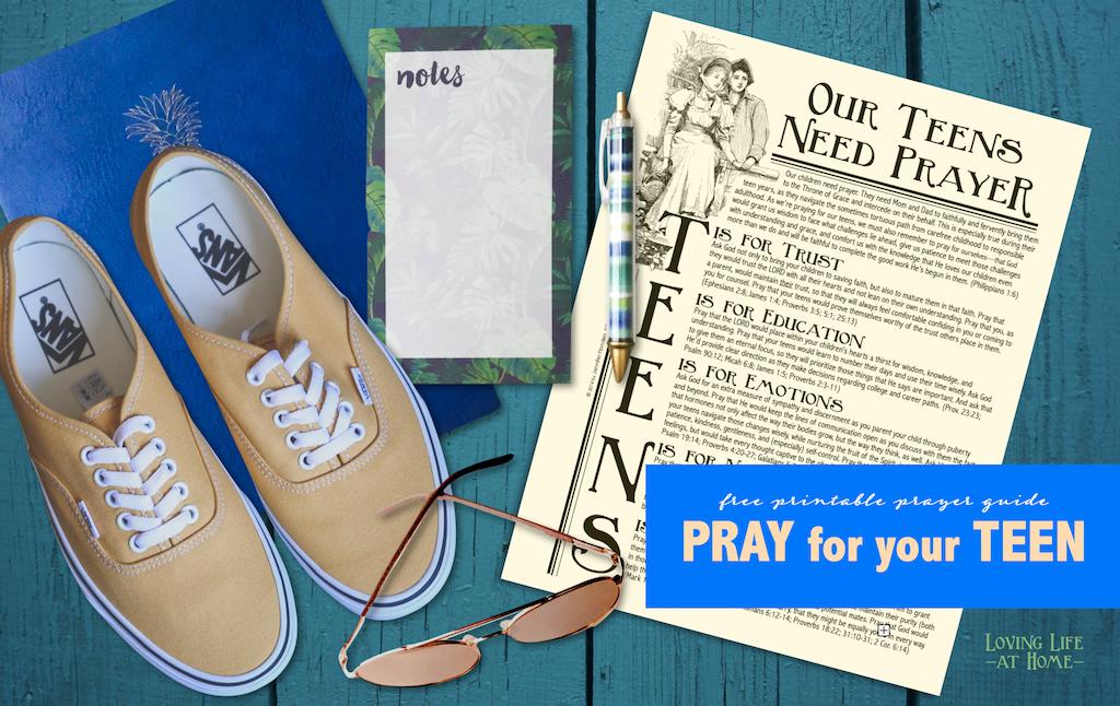 Free Printable: Praying for Your Teens