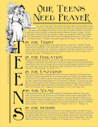 Pray for Your Teens | free printable prayer guides from LovingLifeAtHome.com