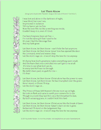 """Let Them Know: Song lyrics based on FROZEN's """"Let It Go"""""""