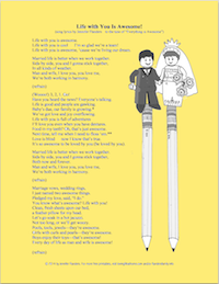Life with You Is Awesome (song lyrics based on Lego Movie Theme)  from lovinglifeathome.com