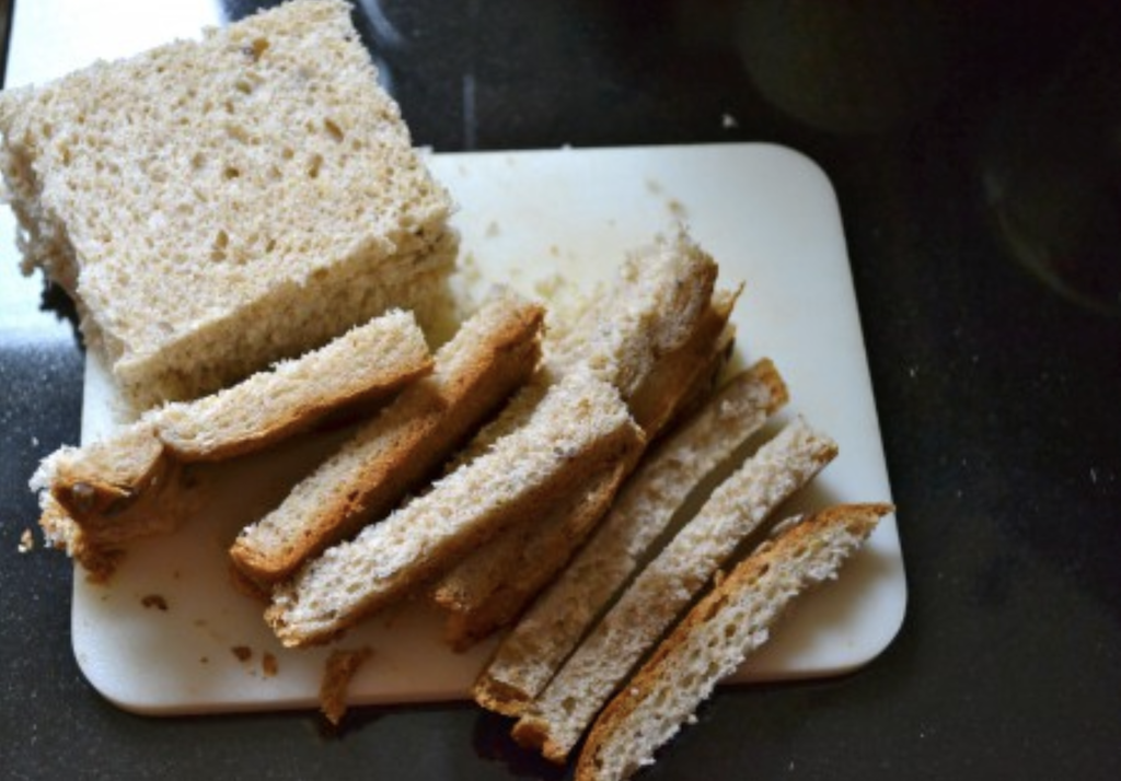 bread crusts - don't waste them!