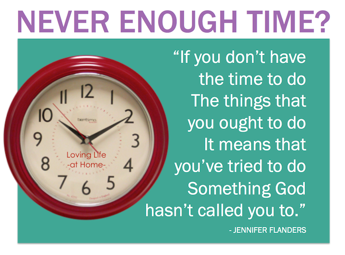 Never Enough Time?