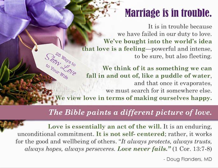 Marriage is in trouble....