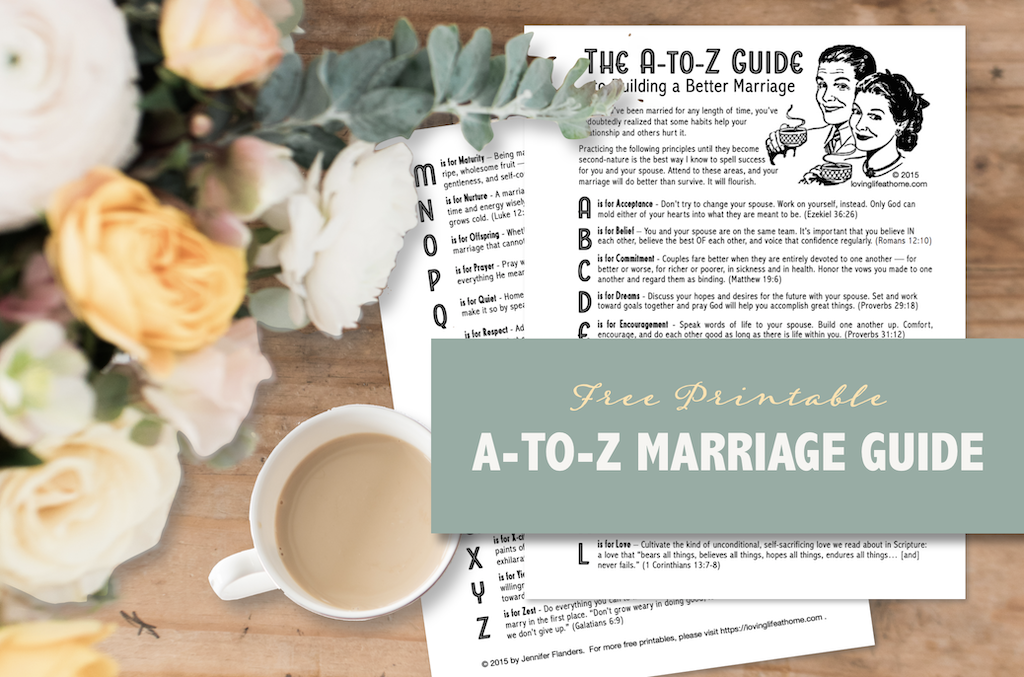 A-to-Z Marriage Guide