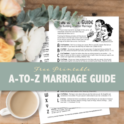 The A-to-Z Guide to Building a Better Marriage
