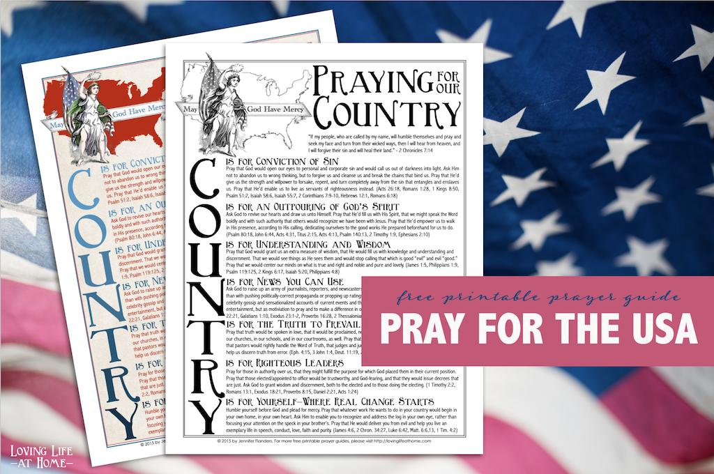 Free printable prayer guide