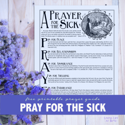 A Prayer for the Sick (Free Printable)