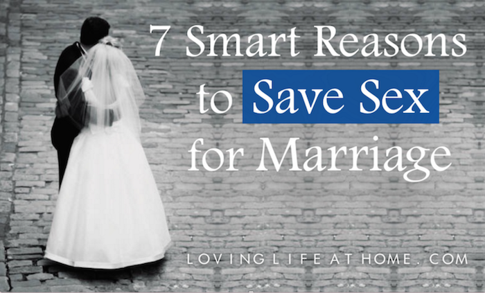 How to save sex for marriage