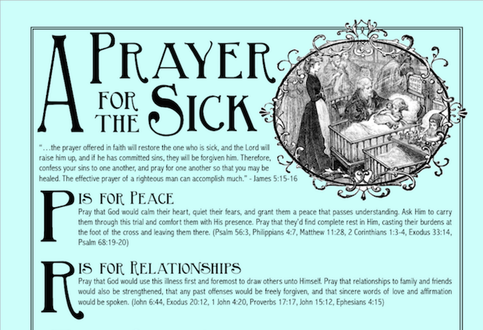 A Prayer for the Sick