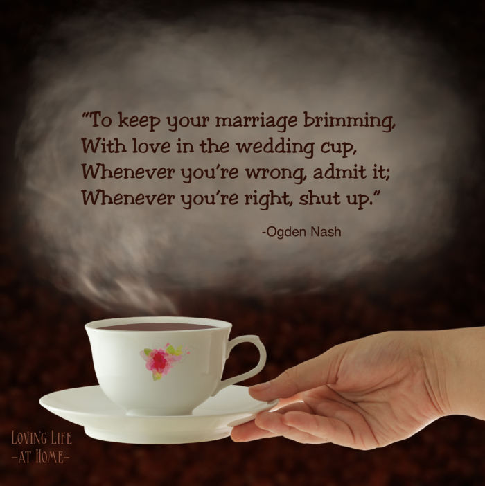 Great marriage advice from Ogden Nash
