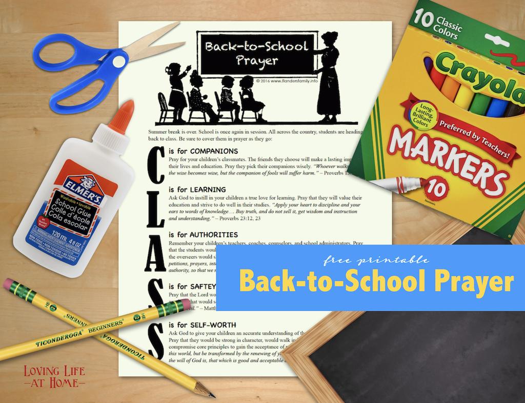 Free Printable Back-to-School Prayer Guide