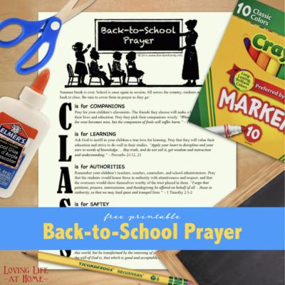 Back-to-School Prayer Guide