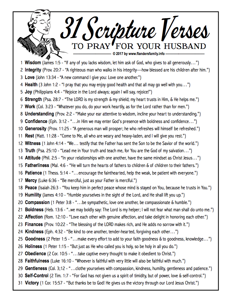 Free Printable: 31-Day Prayer Challenge for Wives