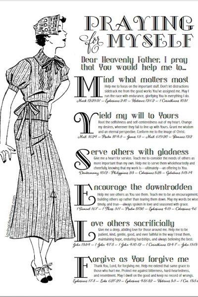 Praying Boldly for Myself (Free Printable Prayer Guide)