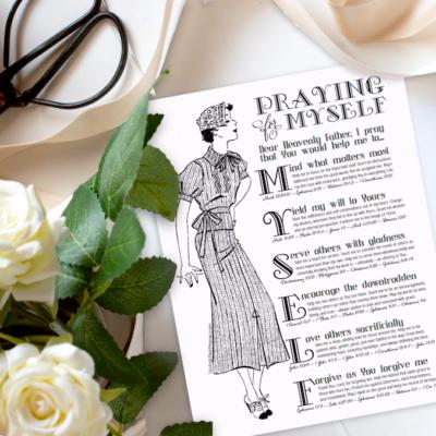 Praying Boldly for Myself (Free Printable)