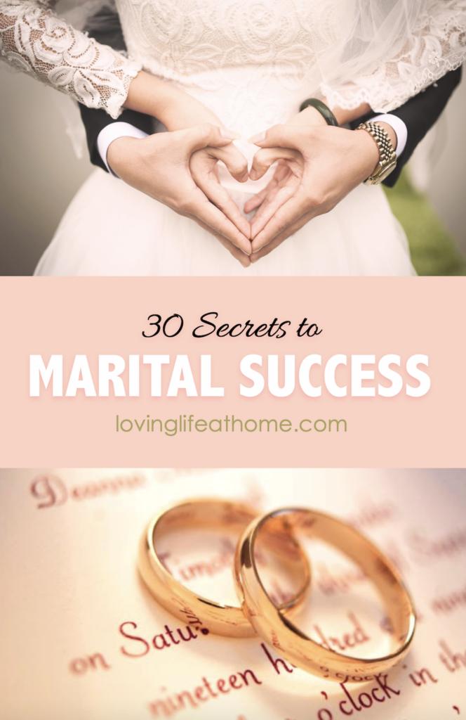 30 Secrets to Marital Success