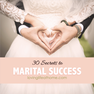 Secrets to Marital Success: 30 Lessons in 30 Years