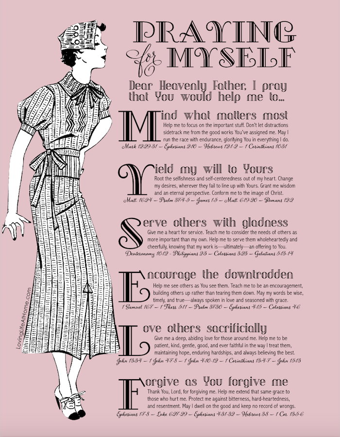 Praying for Yourself Printable Guide