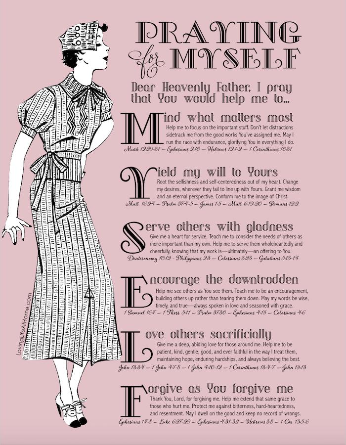 Praying for Yourself Printable Guide