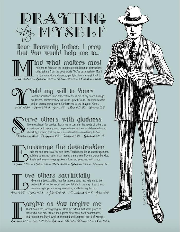 Men's B&W Prayer Guide