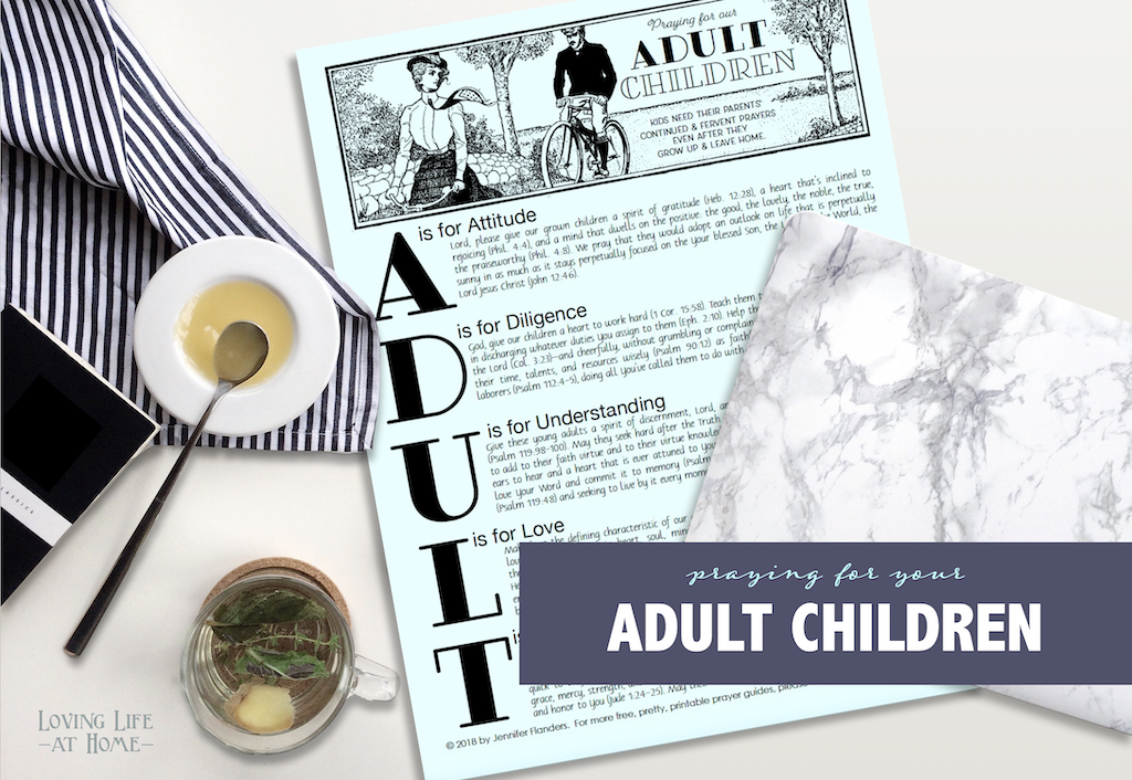 Free Printable Prayer Guide: Praying for Your Adult Children