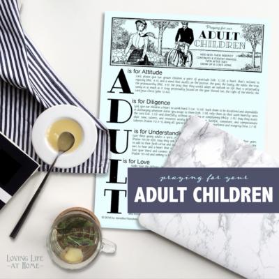 Praying for Adult Children (Free Printable)