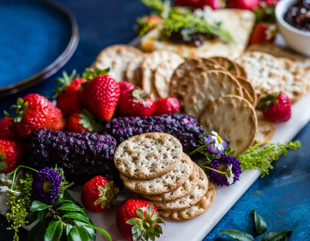 Fruit and Crackers