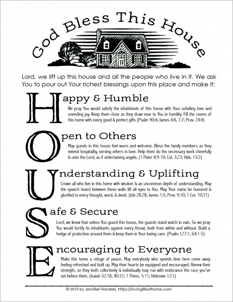 A House Blessing (Free Printable) - Loving Life at Home