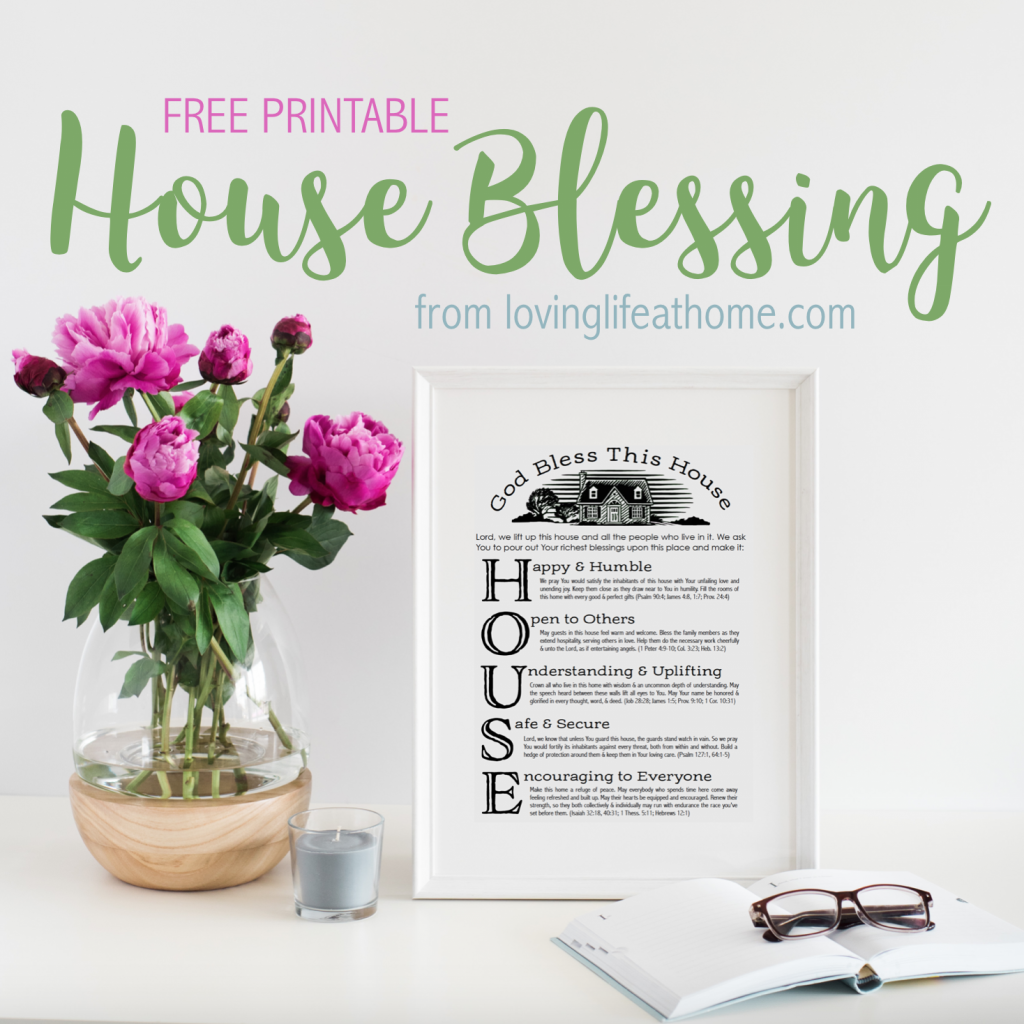 A free printable house blessing