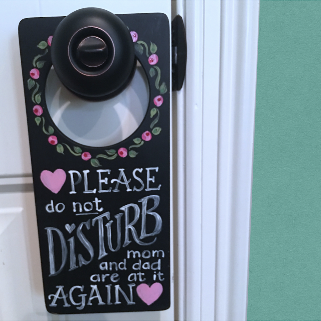 Please Do Not Disturb Sign for parents
