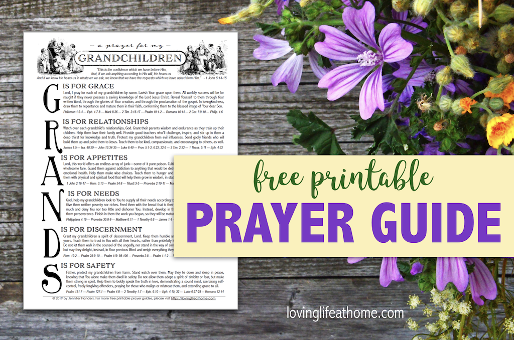 Free Printable Prayer Guide - Grandchildren