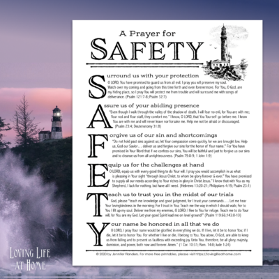 Prayer for Safety in the Midst of Danger