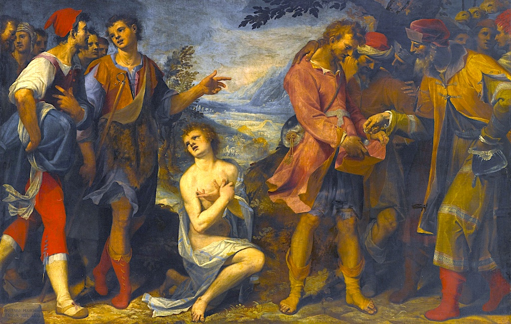 What Men Intend for Evil - Painting of Joseph being sold into slavery by brothers