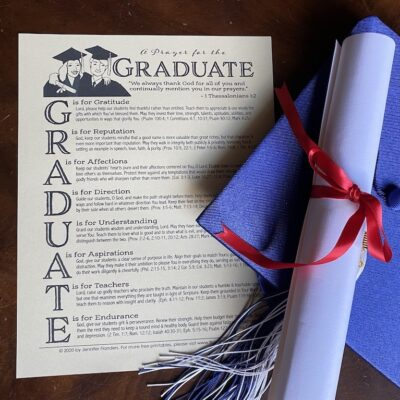 A Prayer for the Graduate (Free Printable)