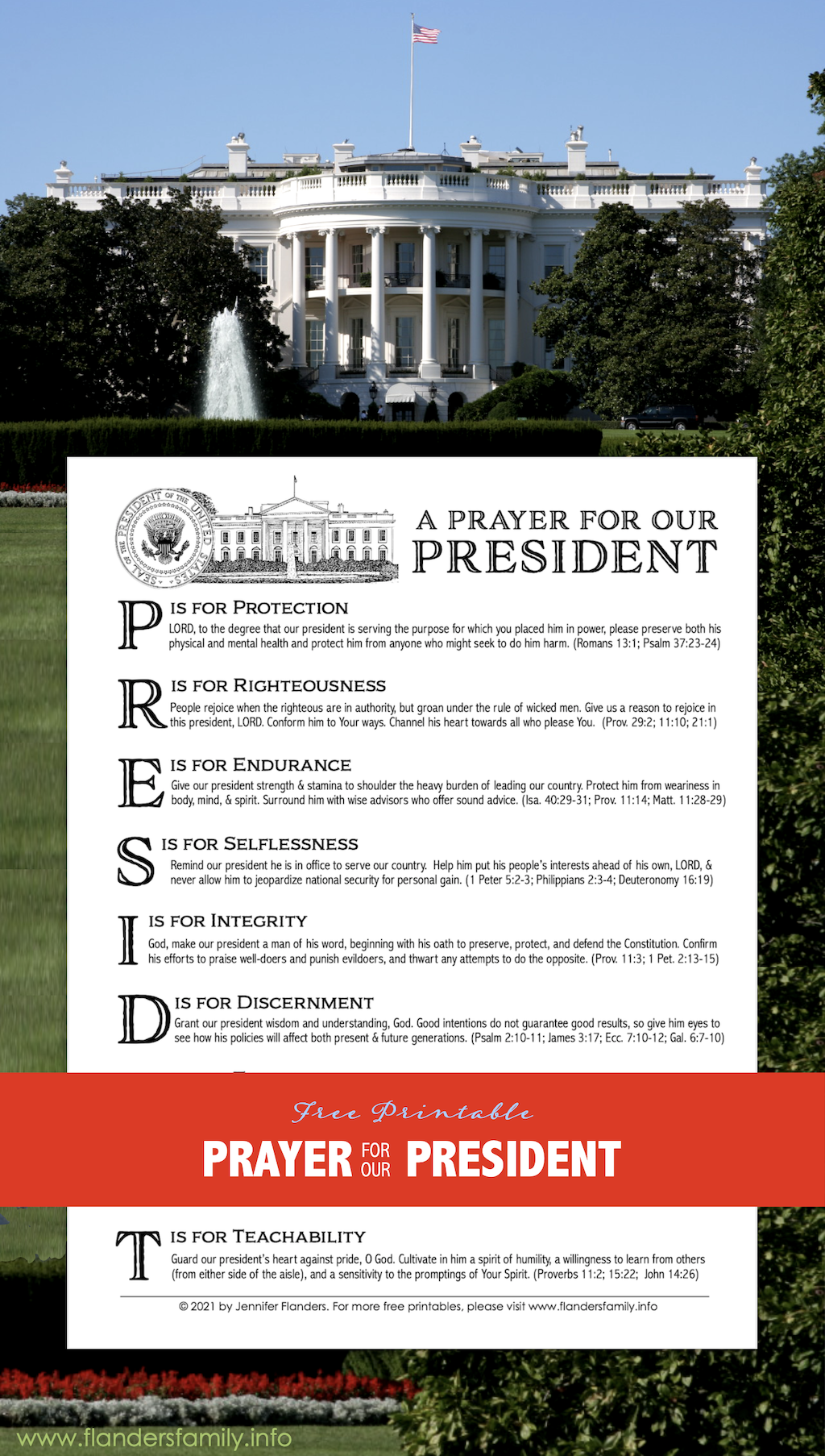 A Prayer for Our President