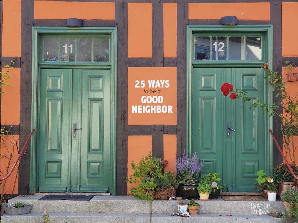 25 Ways to be a Good Neighbor